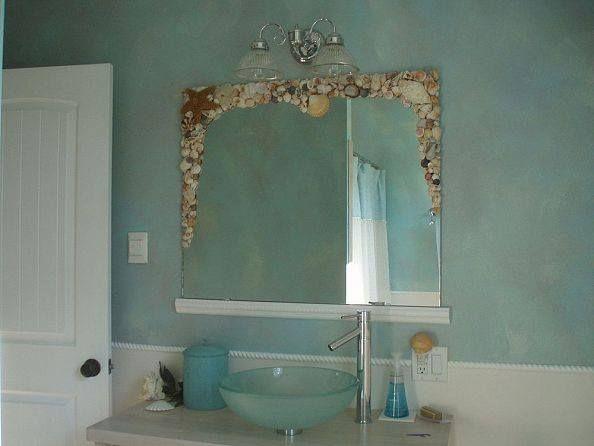Bathroom Mirror Redo Coastal Living Pinterest
