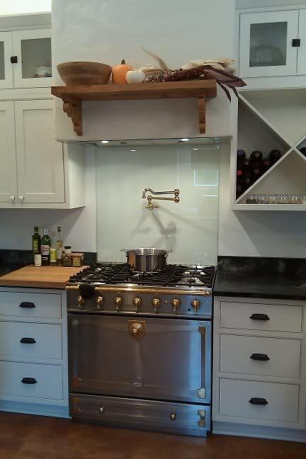 glass backsplash just behind stove kitchen pinterest