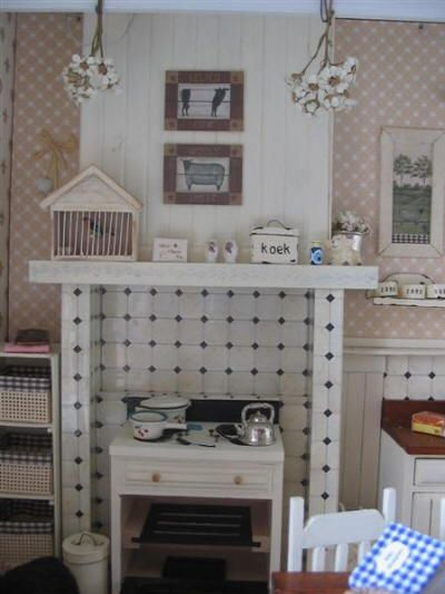 Brocante Keuken Pinterest : Brocante keuken Miniature Room Boxes Pinterest