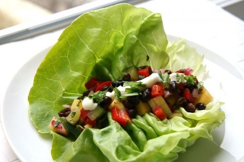 Mango Salsa and Black Bean Lettuce Wraps | Recipes | Pinterest