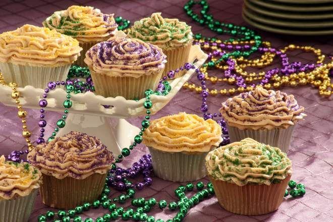 Mardi Gras - King Cake Cupcakes - Chef John Besh