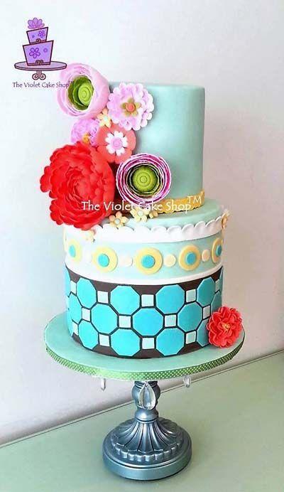 Birthday Cake Modern Art : Modern Patterned Birthday Cake **Beautiful cakes ...