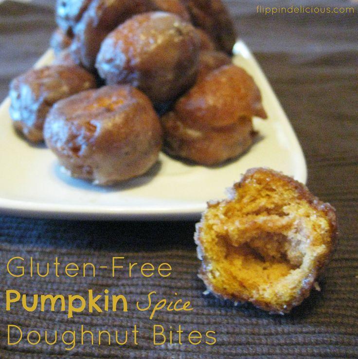Flippin' Delicious: Gluten-Free Pumpkin Spice Doughnut Bites