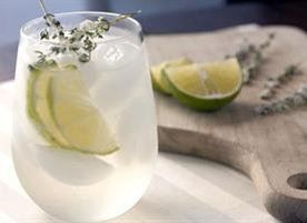 Thyme simple syrup, gin, tonic, and candied thyme springs makes for a ...