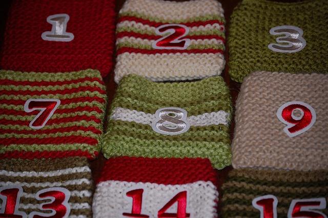 Advent Calendar Handmade Knitting : Knitted advent calendar christmas pinterest