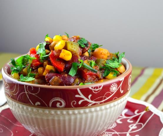 "granny's slow cooker vegetarian chili."" not sure about the canned ..."