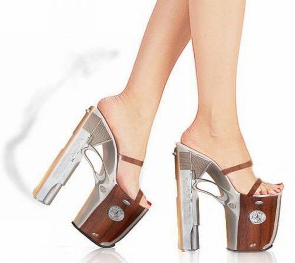 deadly high heeled gun shoes shoe hoe