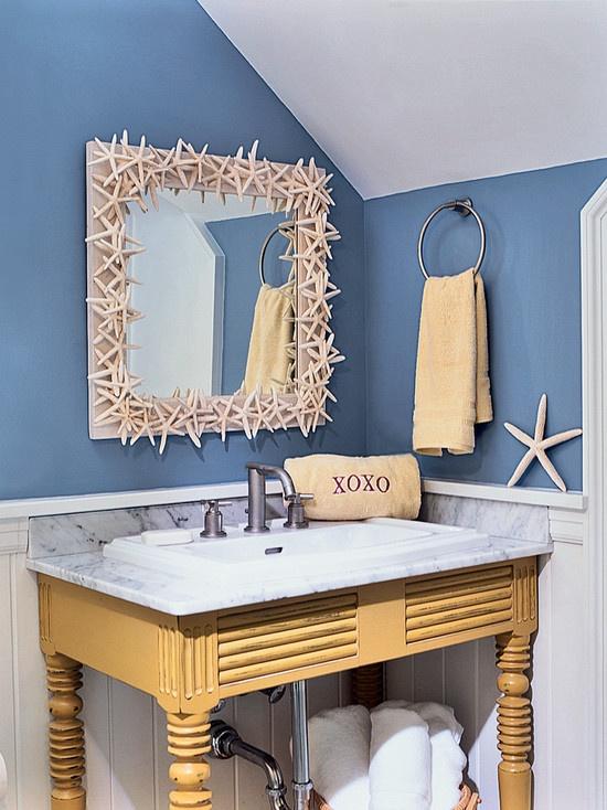 Beachy Bathroom Beach Theme Decor Pinterest