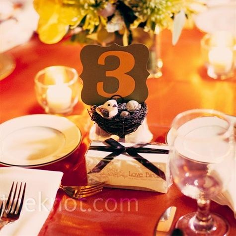 Bird's Nest Table Numbers