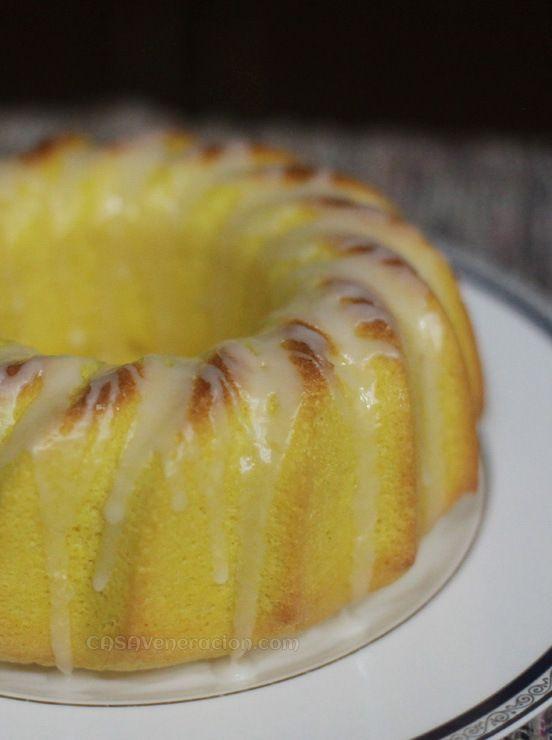 Lemon chiffon cake with lemon glaze (*Healthier if you replace palm ...