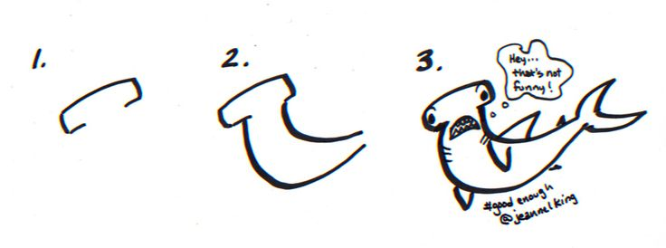 how to draw a hammerhead shark step by step video