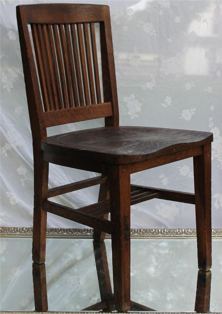 rare antique arts crafts style mission oak gunlocke chair