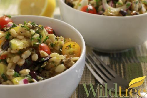 Mediterranean Eggplant & Barley Salad - Wildtree Recipes