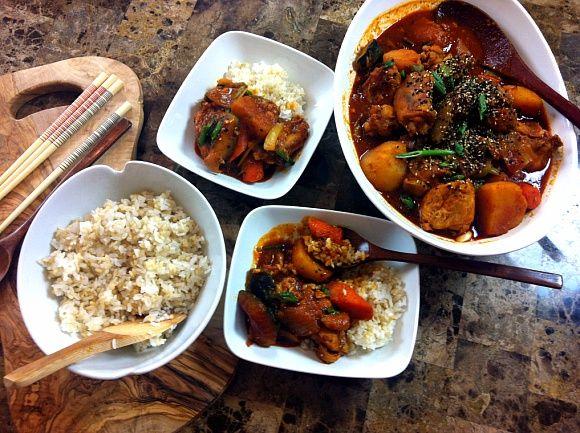 (Korean Spicy Chicken Stew / Korean Spicy Braised Chicken ...