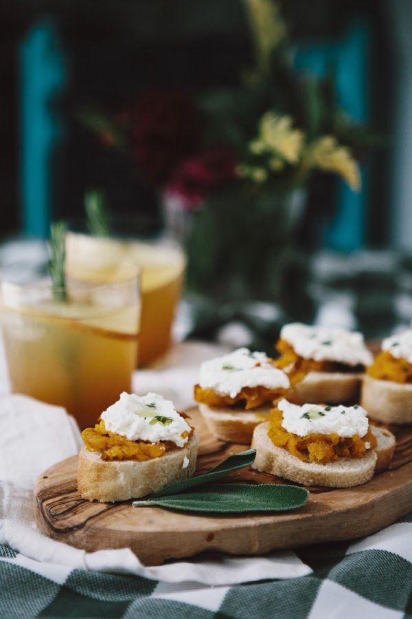 butternut squash crostini | Epicurian | Pinterest
