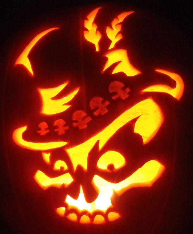 Skull pumpkin stencils imgkid the image kid