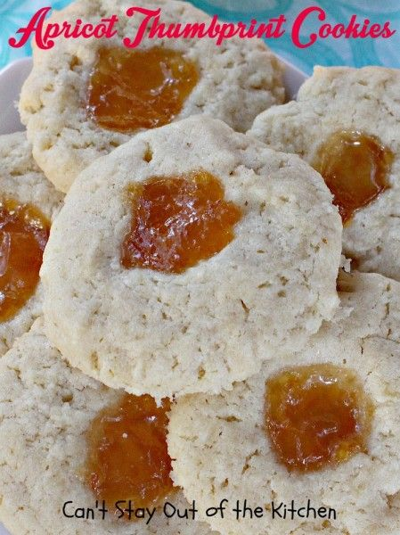 Apricot Thumbprint Cookies | Can't Stay Out of the Kitchen | these ...