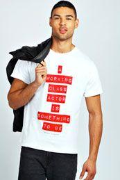 Barry Sloane Charity Slogan Tee   Style for Stroke   Pinterest