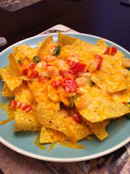 Cheddar Shrimp Nachos | Shrimp | Pinterest
