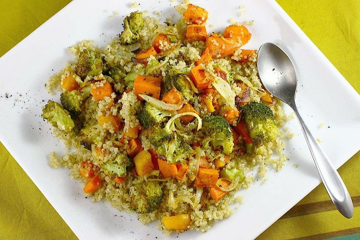 roasted veggies & quinoa | veggies | Pinterest
