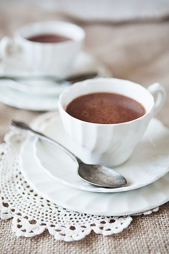 Coconut Almond Hot Chocolate | get in my belly | Pinterest