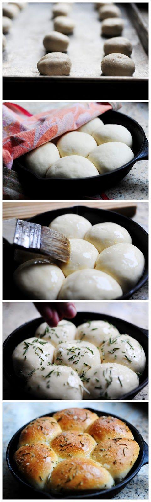 Buttered Rosemary Rolls | Breads | Pinterest