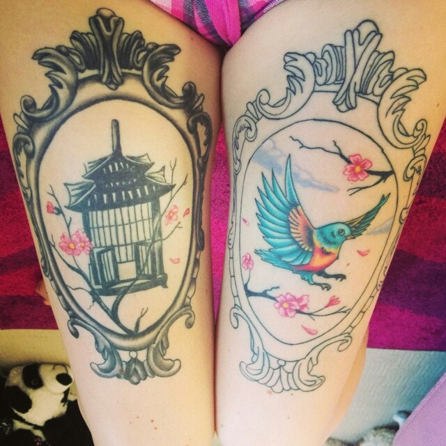 should i frame my birdcage thigh tattoo tattoo ideas pinterest. Black Bedroom Furniture Sets. Home Design Ideas