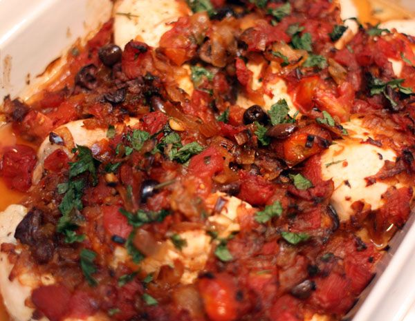 Baked Chicken with Tomatoes and Olives | Recipes | Pinterest