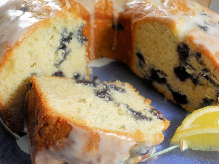 Lemon Blueberry Pound Cake - | Cakes and Cookies | Pinterest