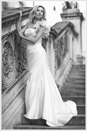 One shoulder wedding dress sort of how mine might look don t think