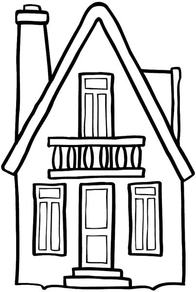 Cottage coloring pinterest for Drawing of small house