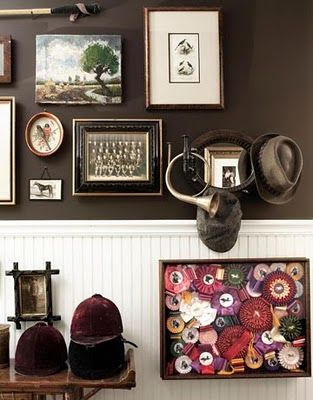 equestrian style (great wall color, art, beadboard)