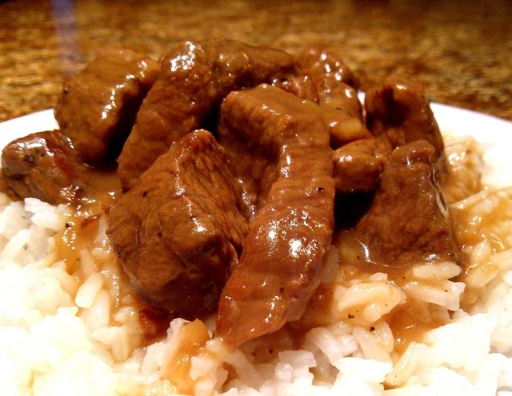 Stewed Beef & Rice | Beef- Hamburg | Pinterest