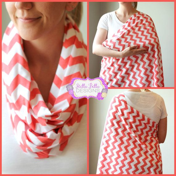Hold Me Close Chevron Nursing Scarf - Nursing Cover, Infinity Scarf via Etsy