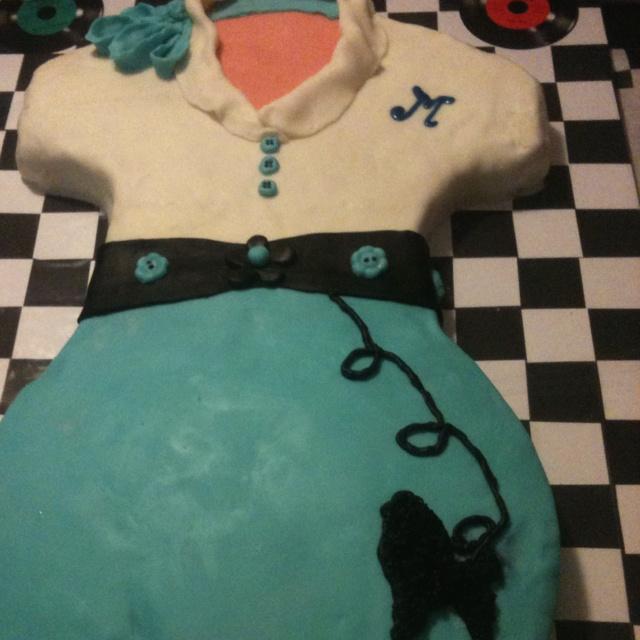 50s theme birthday cake .