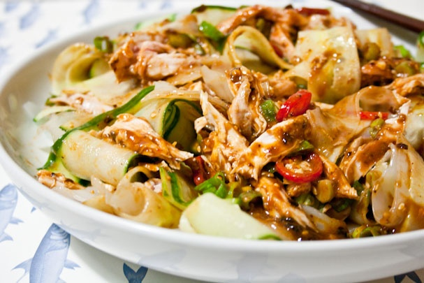 Liang Ban Ji Si Fen Pi 涼拌雞絲粉皮 Cold Chicken Salad With ...