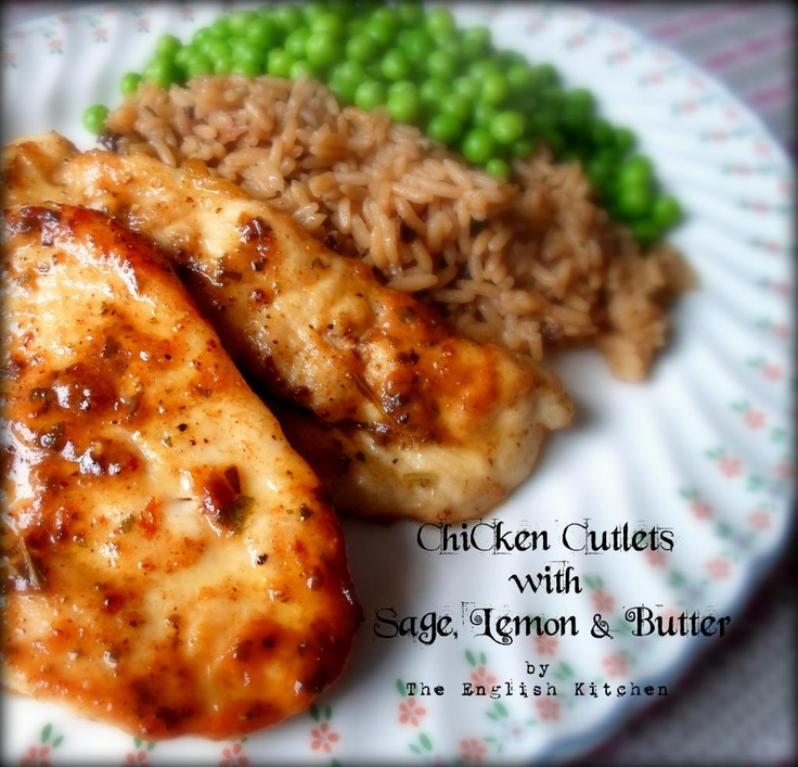 Chicken Cutlets with Sage, Lemon & Butter