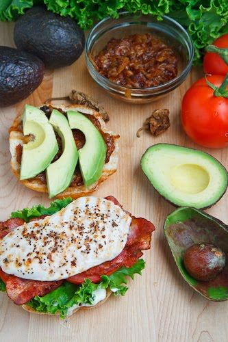 Grilled Chicken and Club Sandwich with Avocado and Chipotle Carameliz ...