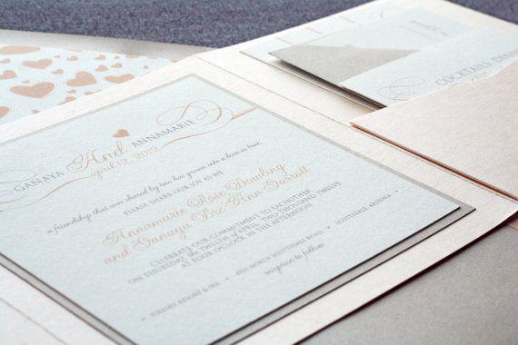 Romantic Flourish Classic Wedding Invitation by JulieHananDesign, $150.00