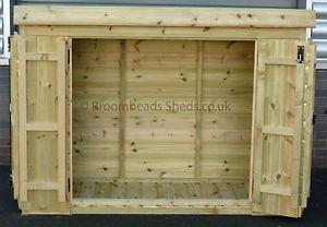 12mm-Tanalised-Timber-wood-Tool-Tidy-Bike-store-Shed-BI-Fold-door
