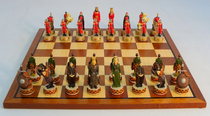 English Vs Scots Chess Set Unique Chess Sets Pinterest