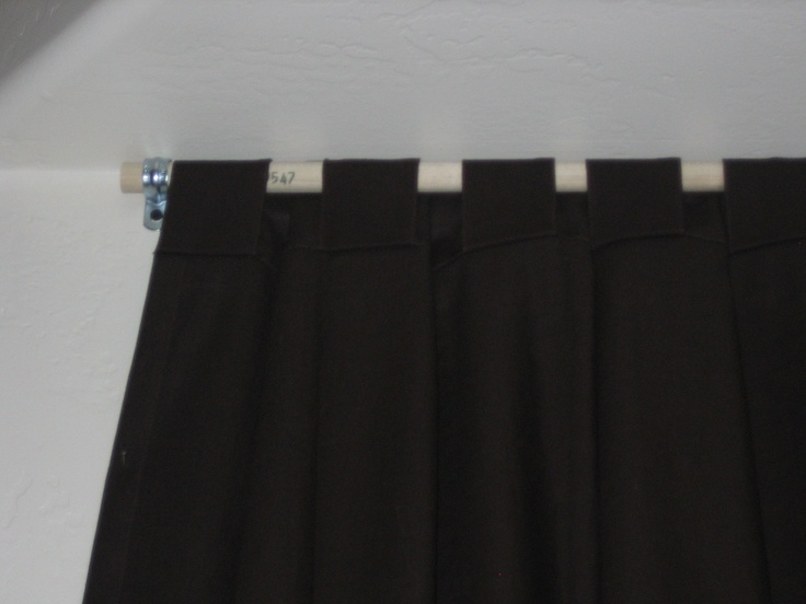 Homemade curtain rod i used 1 2 quot wood dowel cut to size and conduit