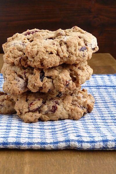 Giant Cranberry Chocolate Chunk Oatmeal Cookies