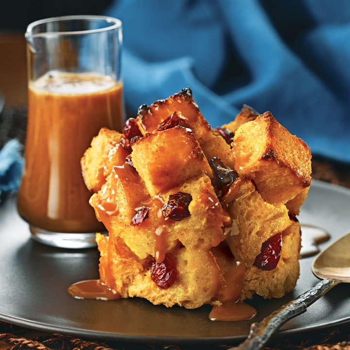 ... the Month for October 2012 - Pumpkin Bread Pudding with Caramel Sauce