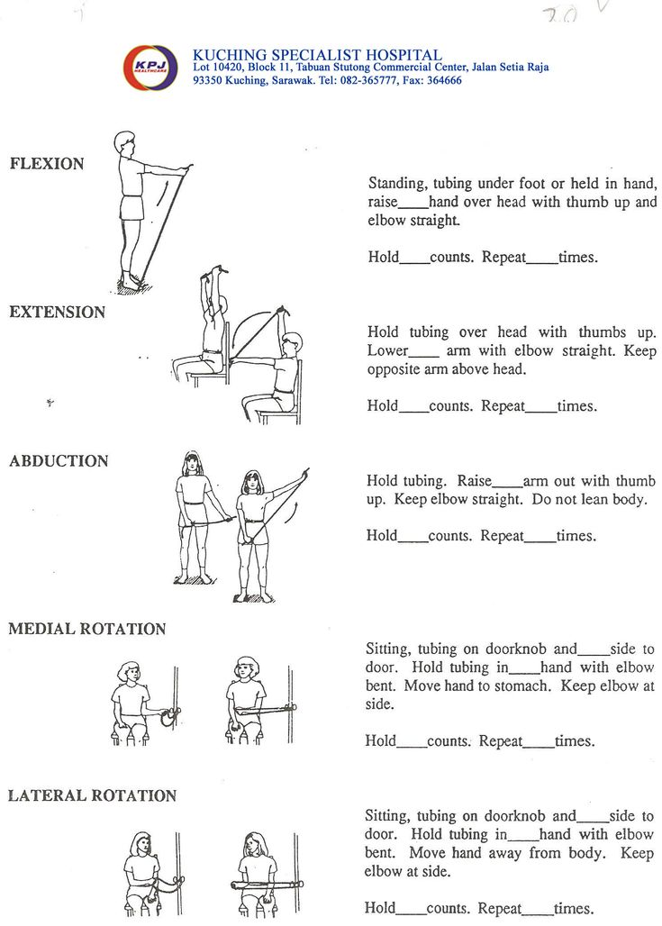 thera band upper extremity exercise handouts