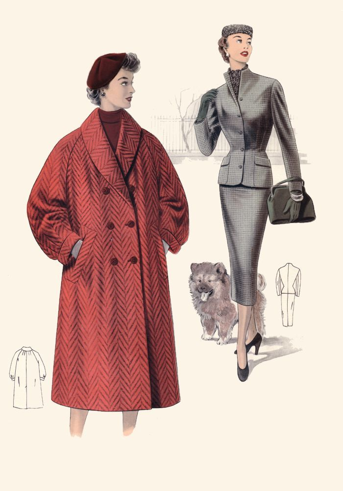 1950 fashions   Pictures of 1950s Coats and Costume Suits - Fashion