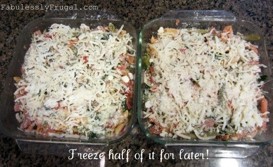 Freezer Meal Recipe: Baked Pasta with Chicken Sausage | Fabulessly ...