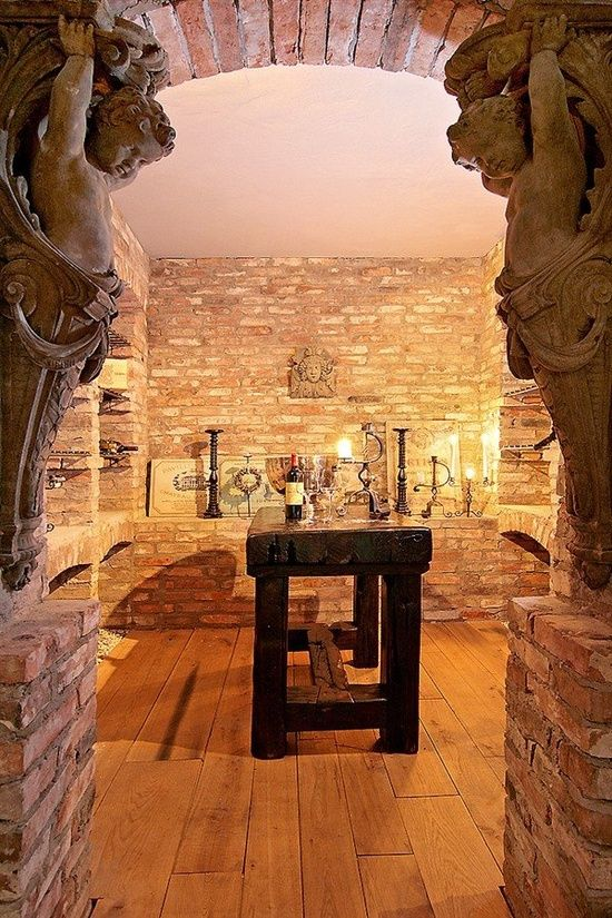 Magnificent Entrance to the Wine Cellar