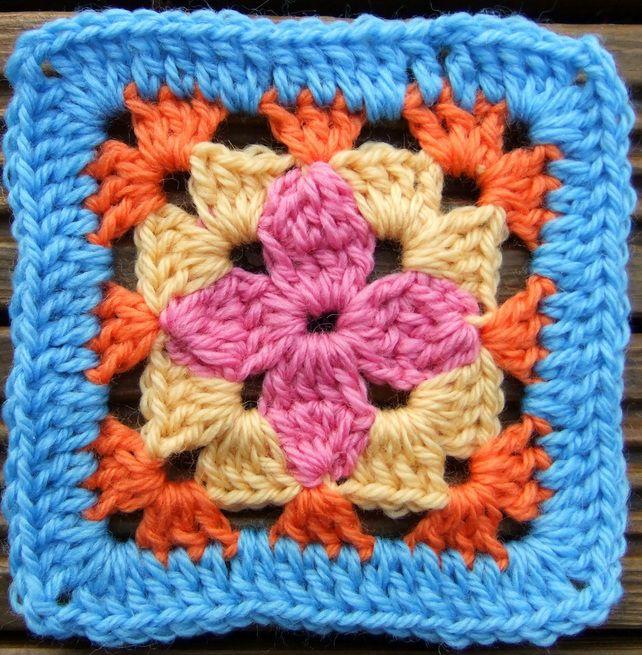 Crochet Patterns Block Afghan : PDF Crochet Pattern - Petal Afghan Block