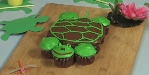 Turtle cake - How to make pull-apart turtle cupcakes